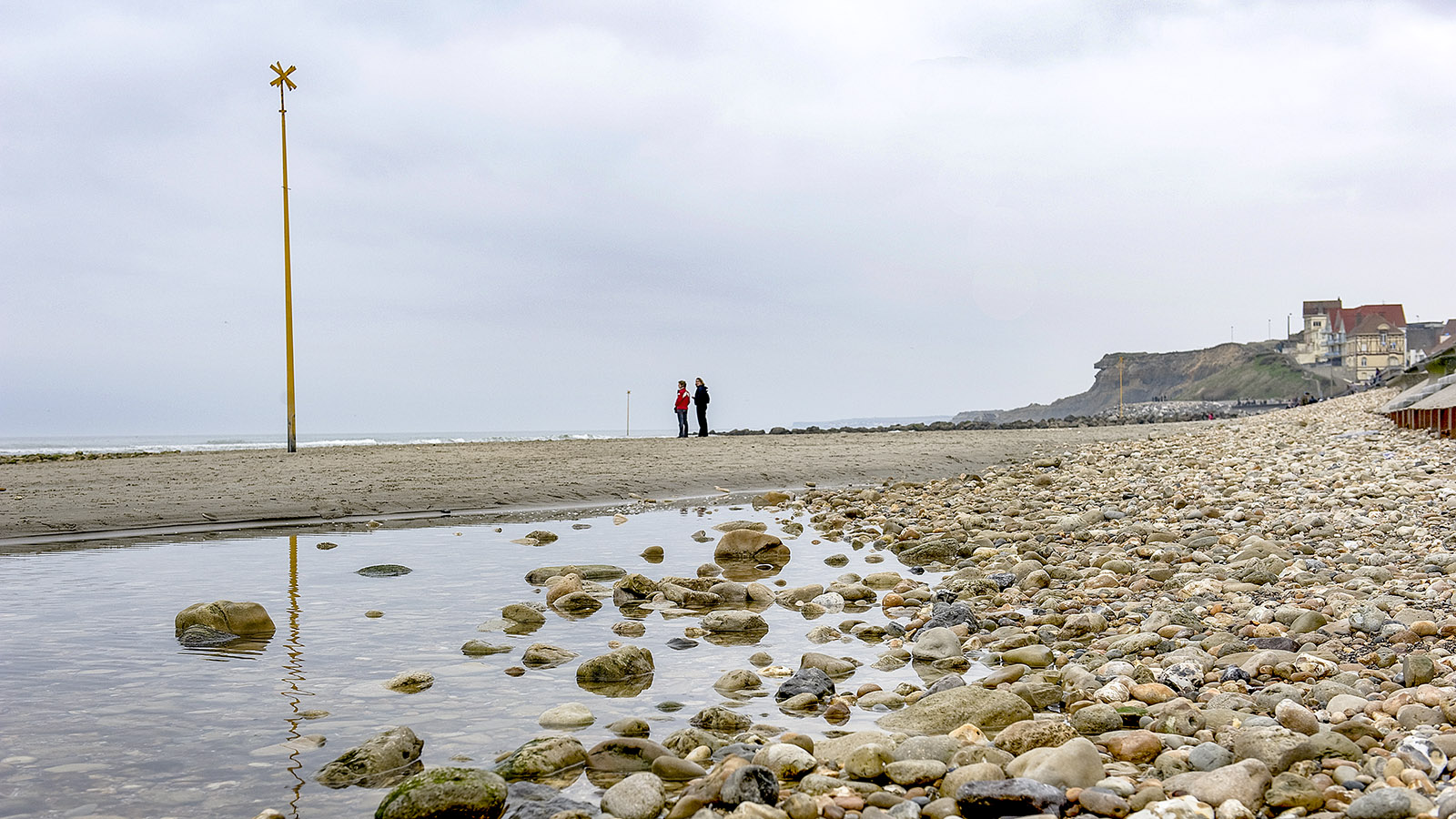 Der Strand von Wimereux im Winter. Foto. Hilke Maunder