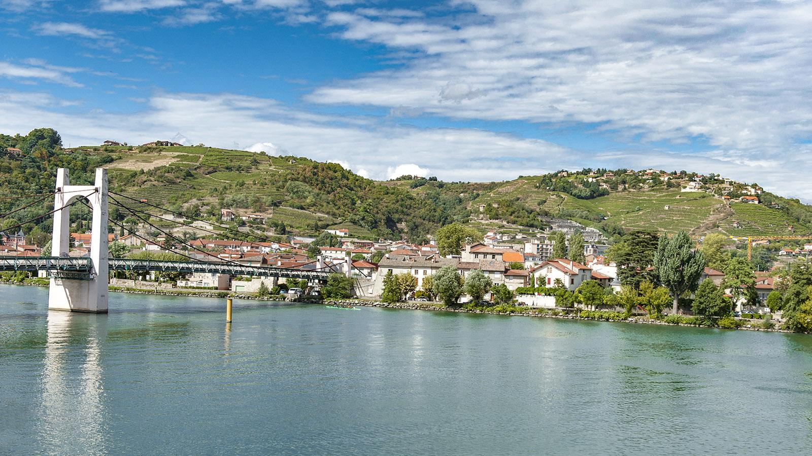 Das Winzerdorf Condrieu an der Rhône. Foto: Hilke Maunder