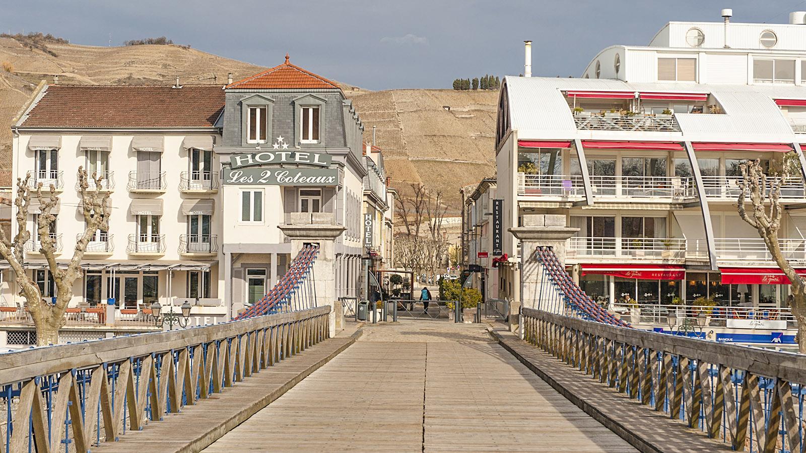 Tain-l'Hermitage. das Hotel Les 2 Côteaux. Foto: Hilke Maunder