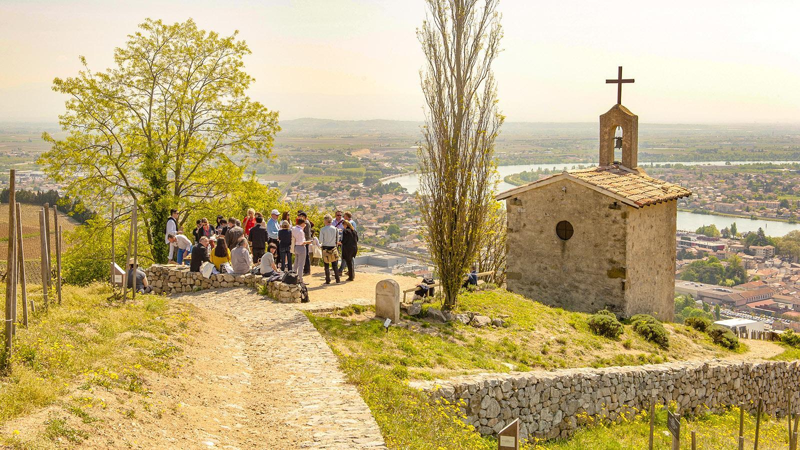 Die Kapelle in den Weinbergen von Tain-l'Hermitage. Foto: Hilke Maunder