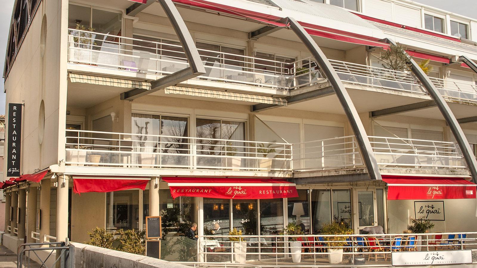 Tain-l'Hermitage. das Restaurant Le Quai von Chabran. Foto: Hilke Maunder