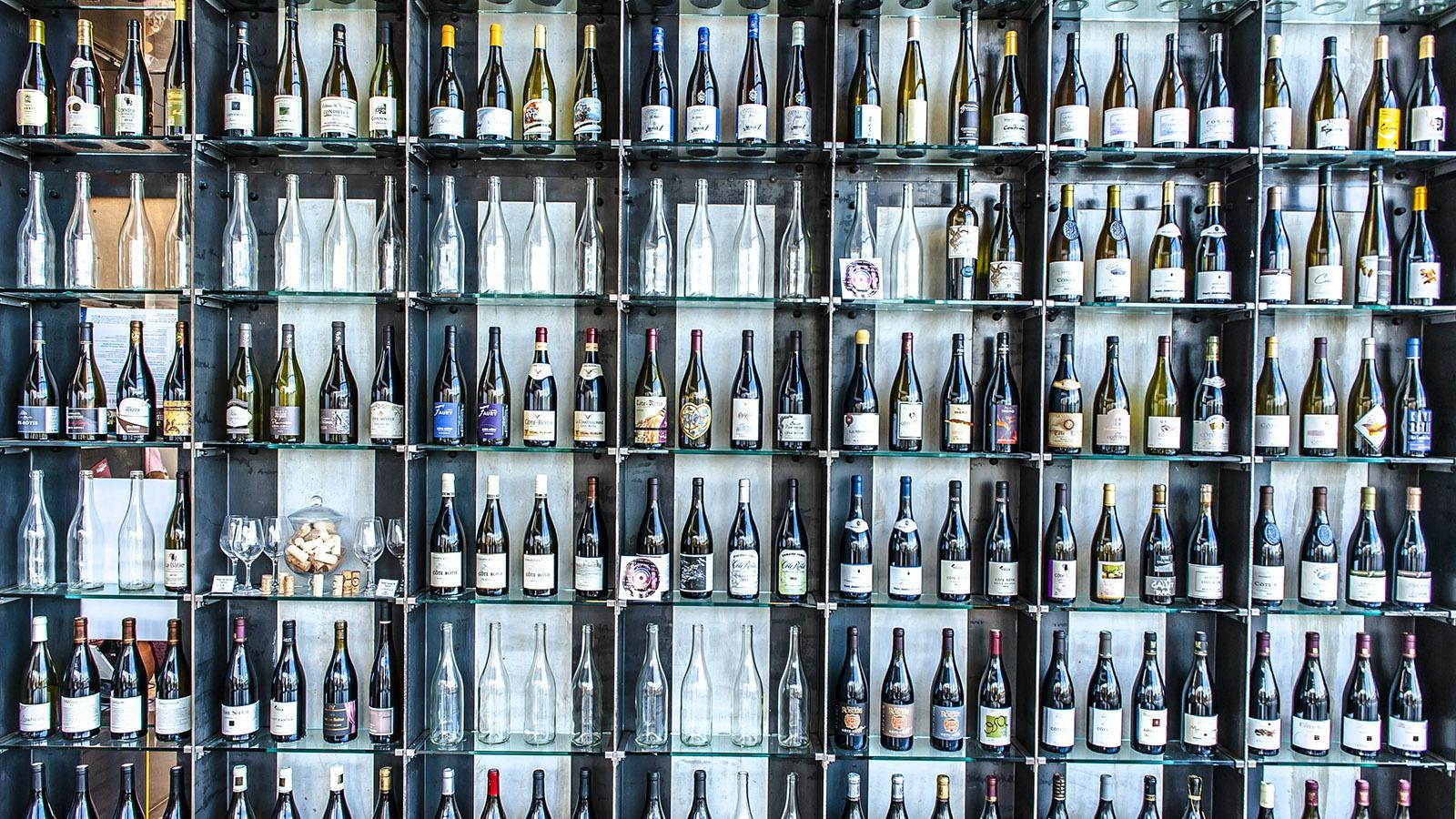 Das Office de Tourisme in Vienne stellt die Weine der nördlichen Côtes du Rhône vor. Foto: Hilke Maunder