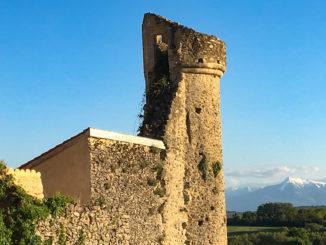 Aurignac. Blick vom Ort auf die Pyrenäen. Foto: Hilke Maunder