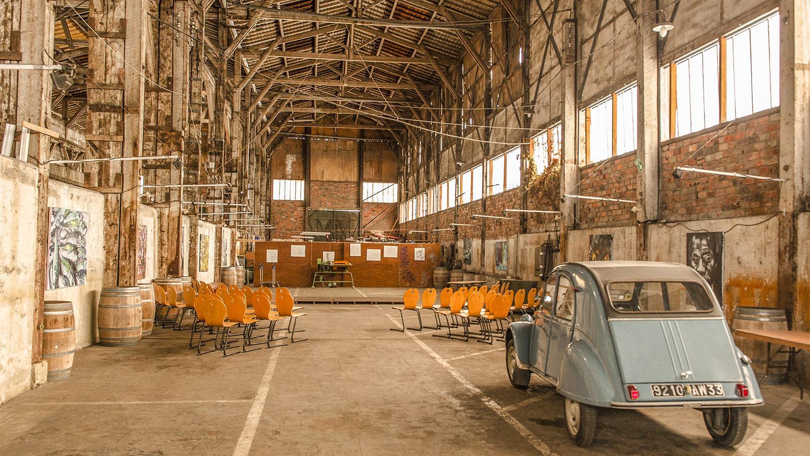 Bordeaux: die Eventfläche von Le Garage. Foto: Hilke Maunder