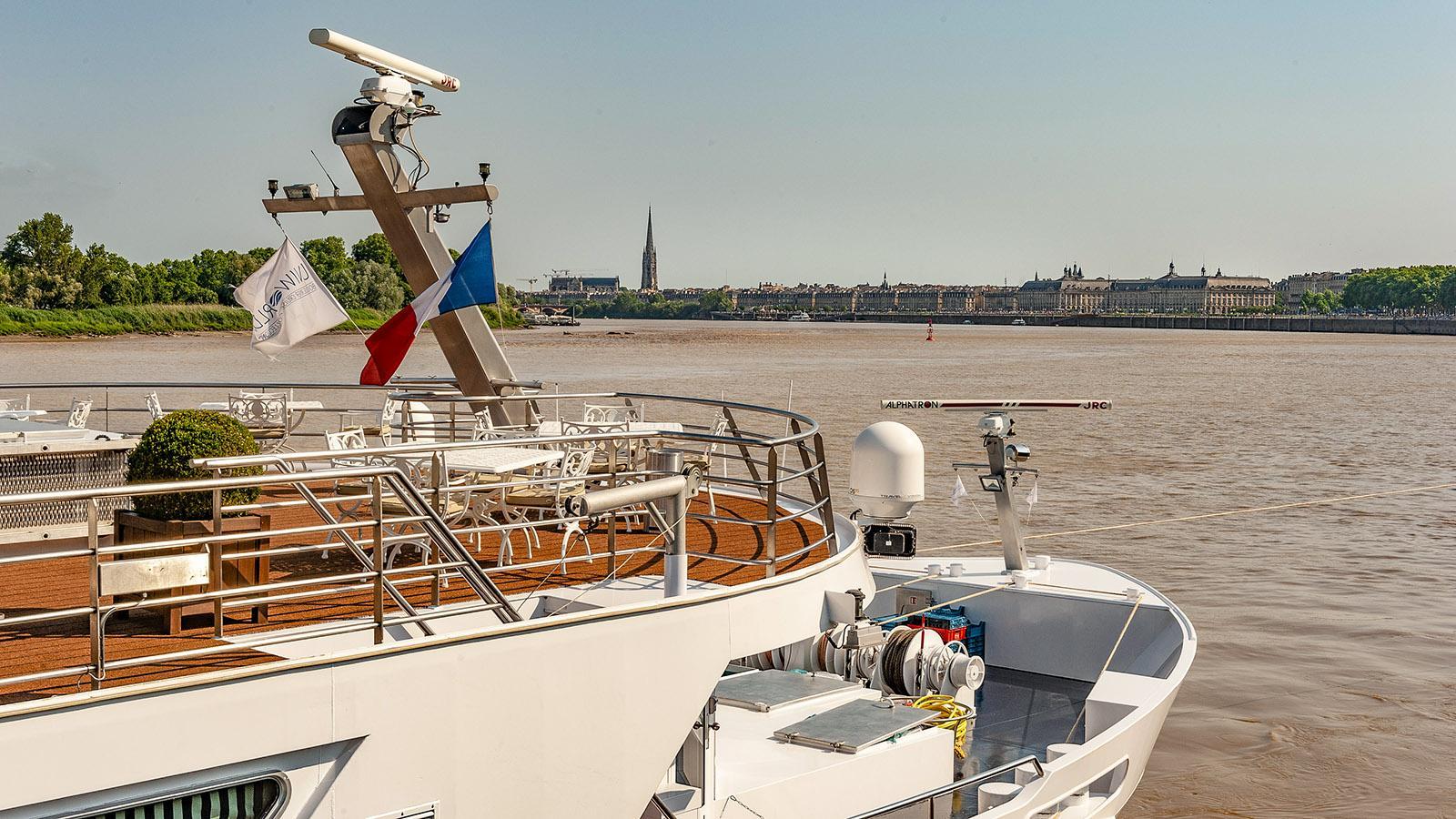 Blick auf Bordeaux, den Port de la Lune. Foto: Hilke Maunder