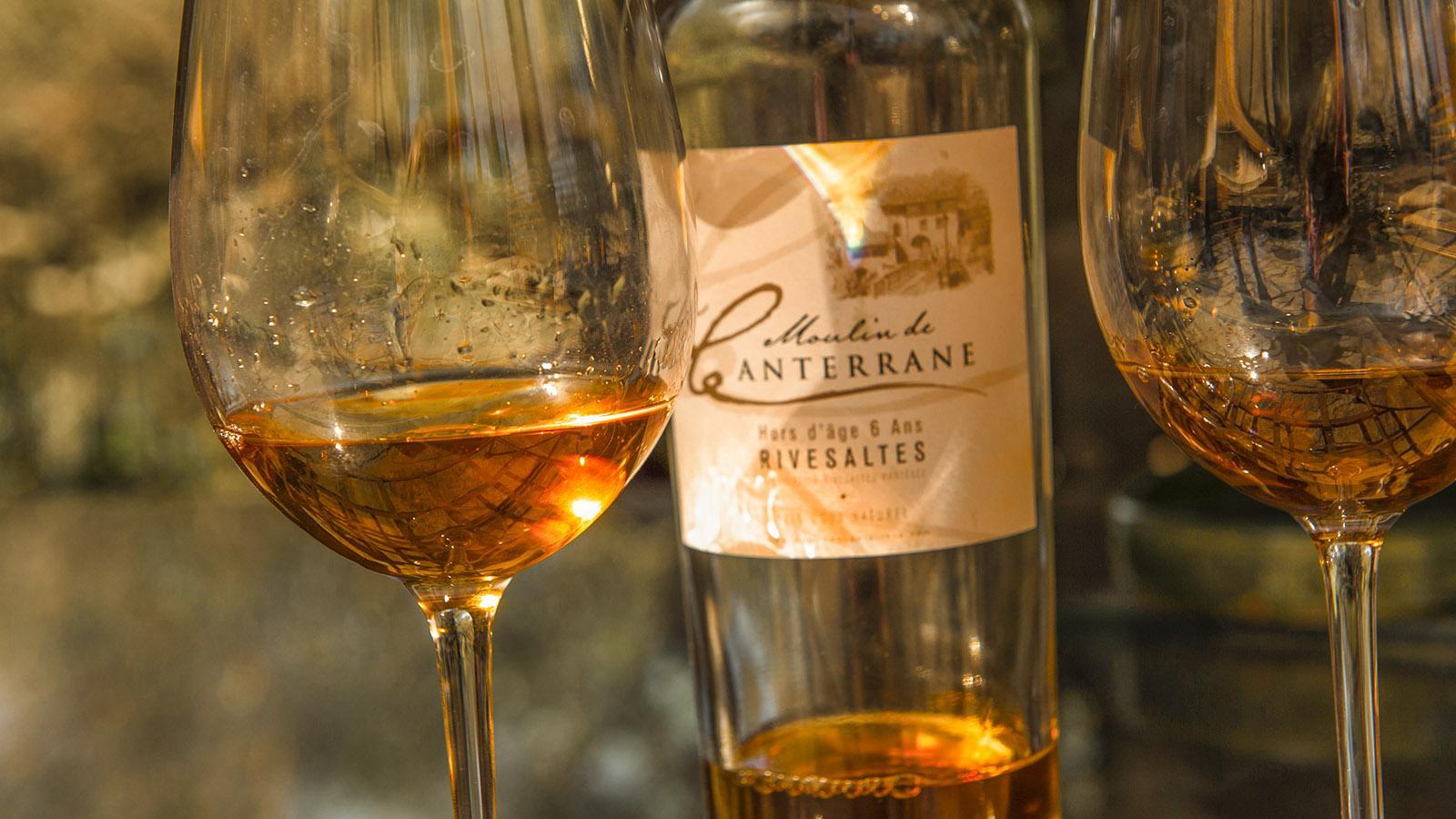 Der hauseigene Süßwein der Moulin de Canterrane. Foto: Hilke Maunder