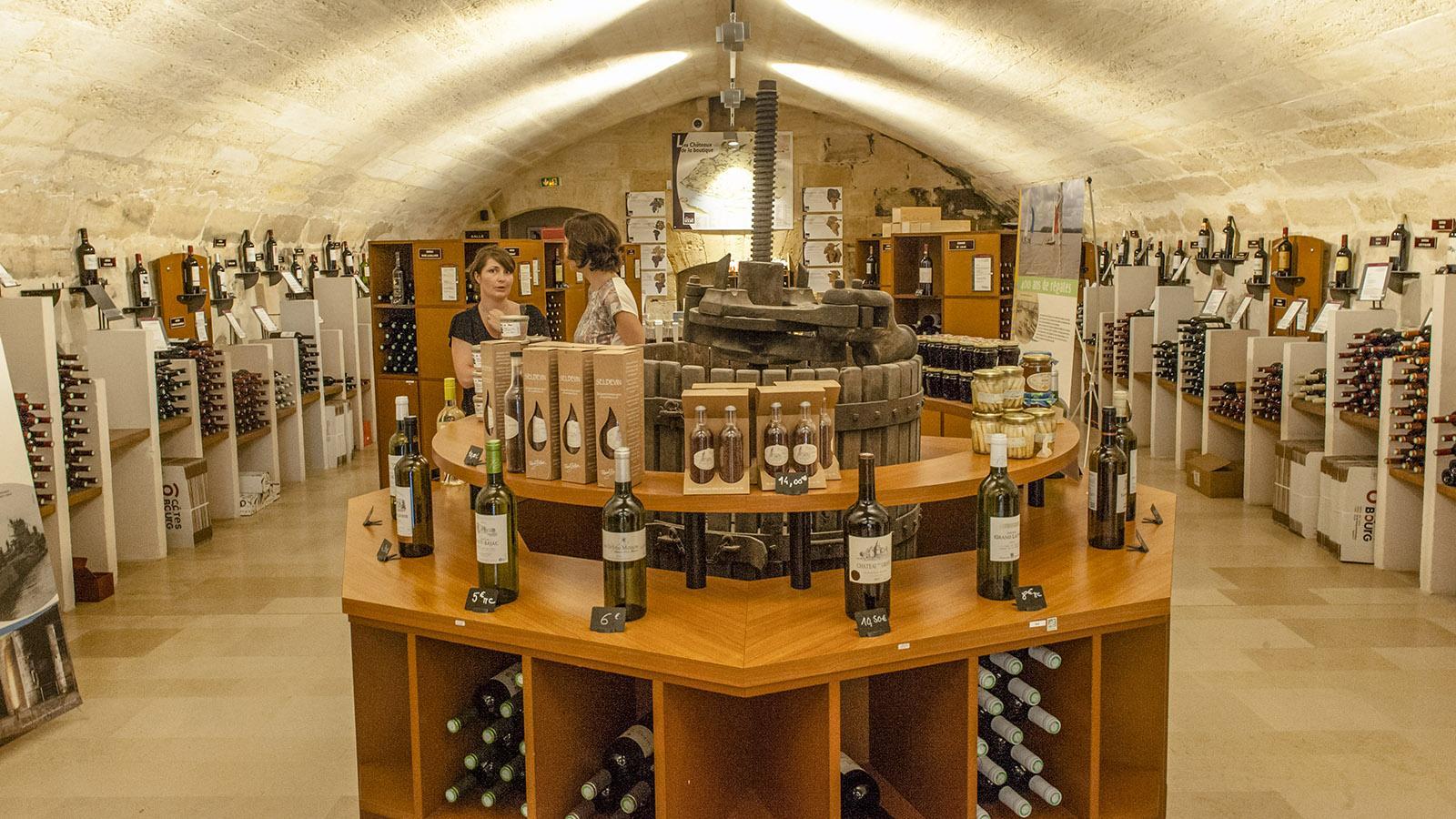 Bourg-sur-Gironde: die Maison du Vin. Foto: Hilke Maunder