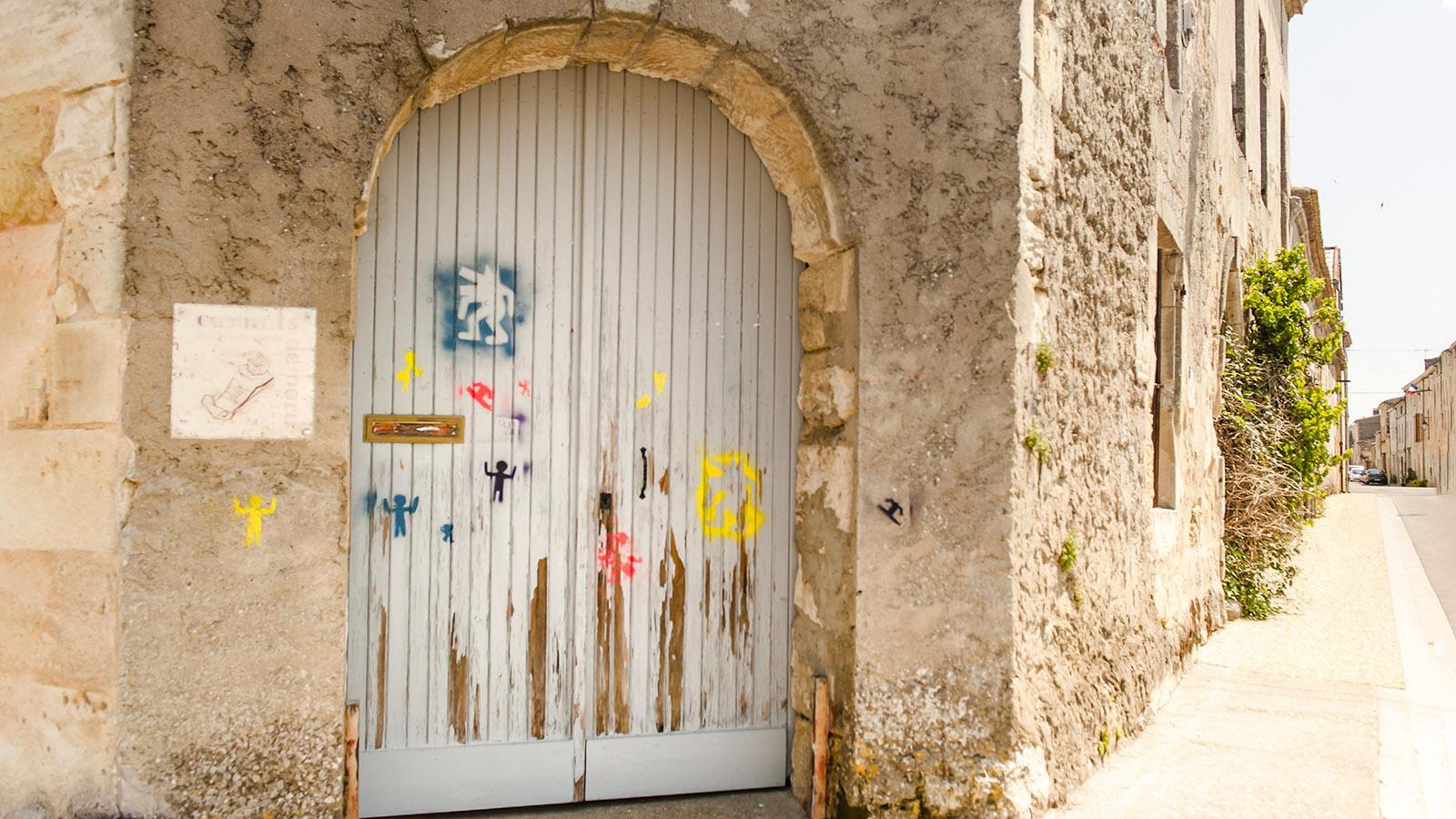 Bourg-sur-Gironde: Street Art. Foto: Hilke Maunder