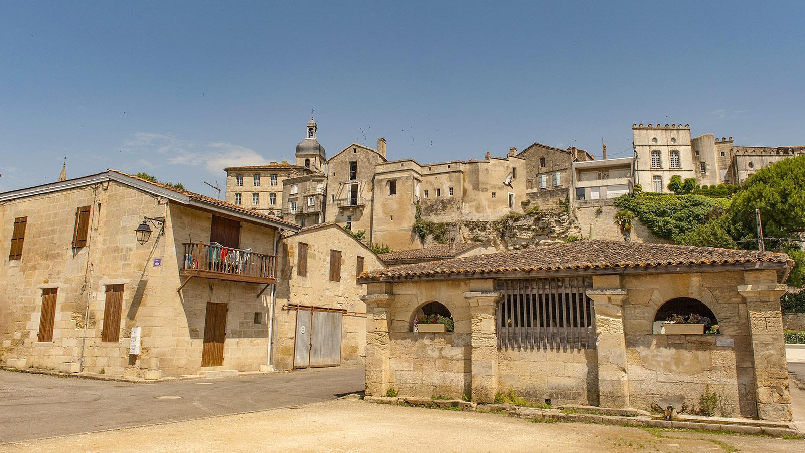 Bourg-sur-Gironde klettert an ein