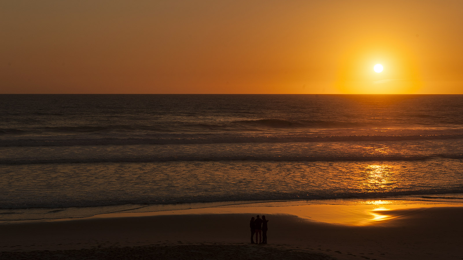 Sonnenuntergang über Carcans-Plage. Foto: Hike Maunder