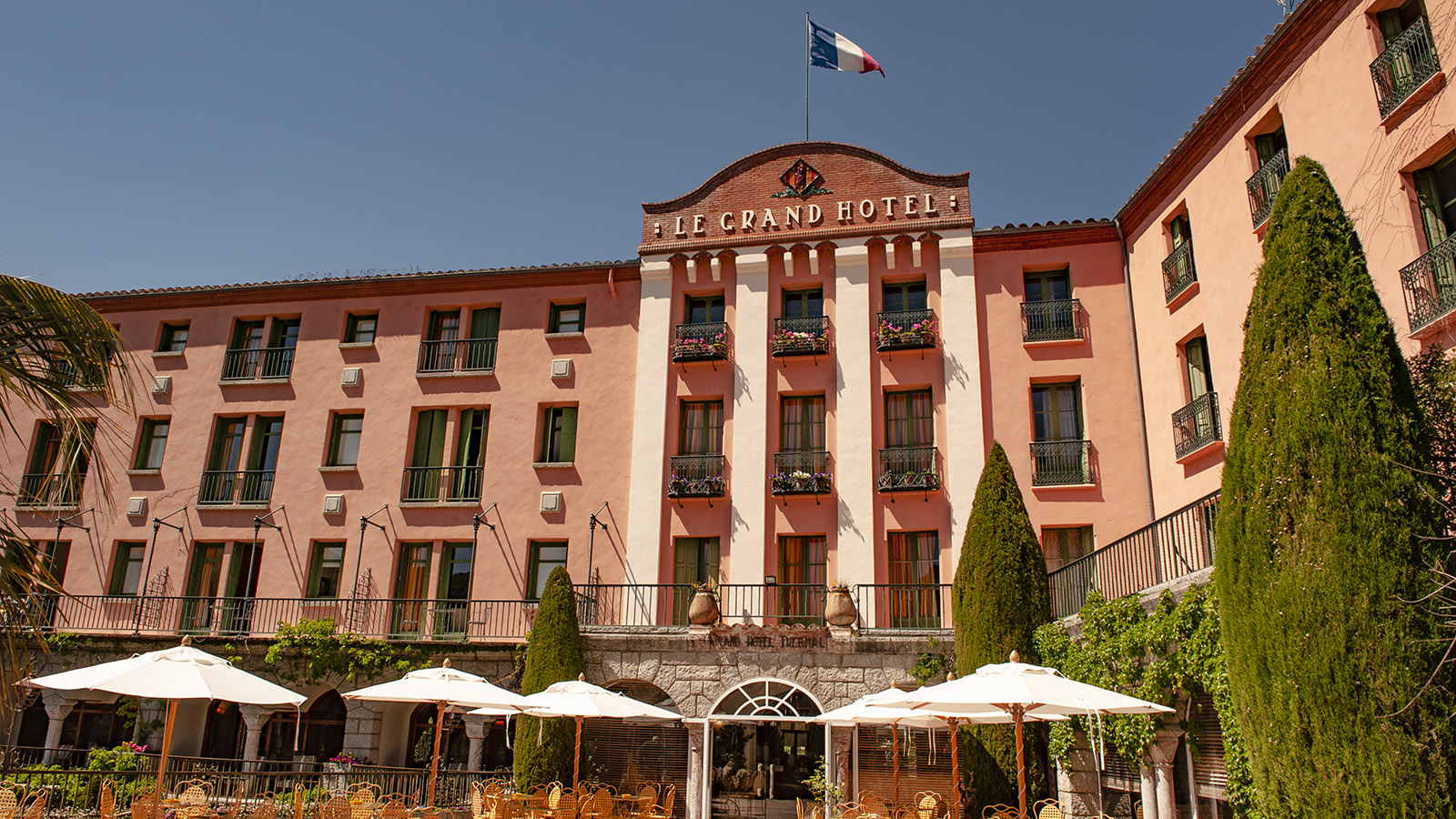 Das Grand Hôtel von Molitg-les-Bains. Foto: Hilke Maunder