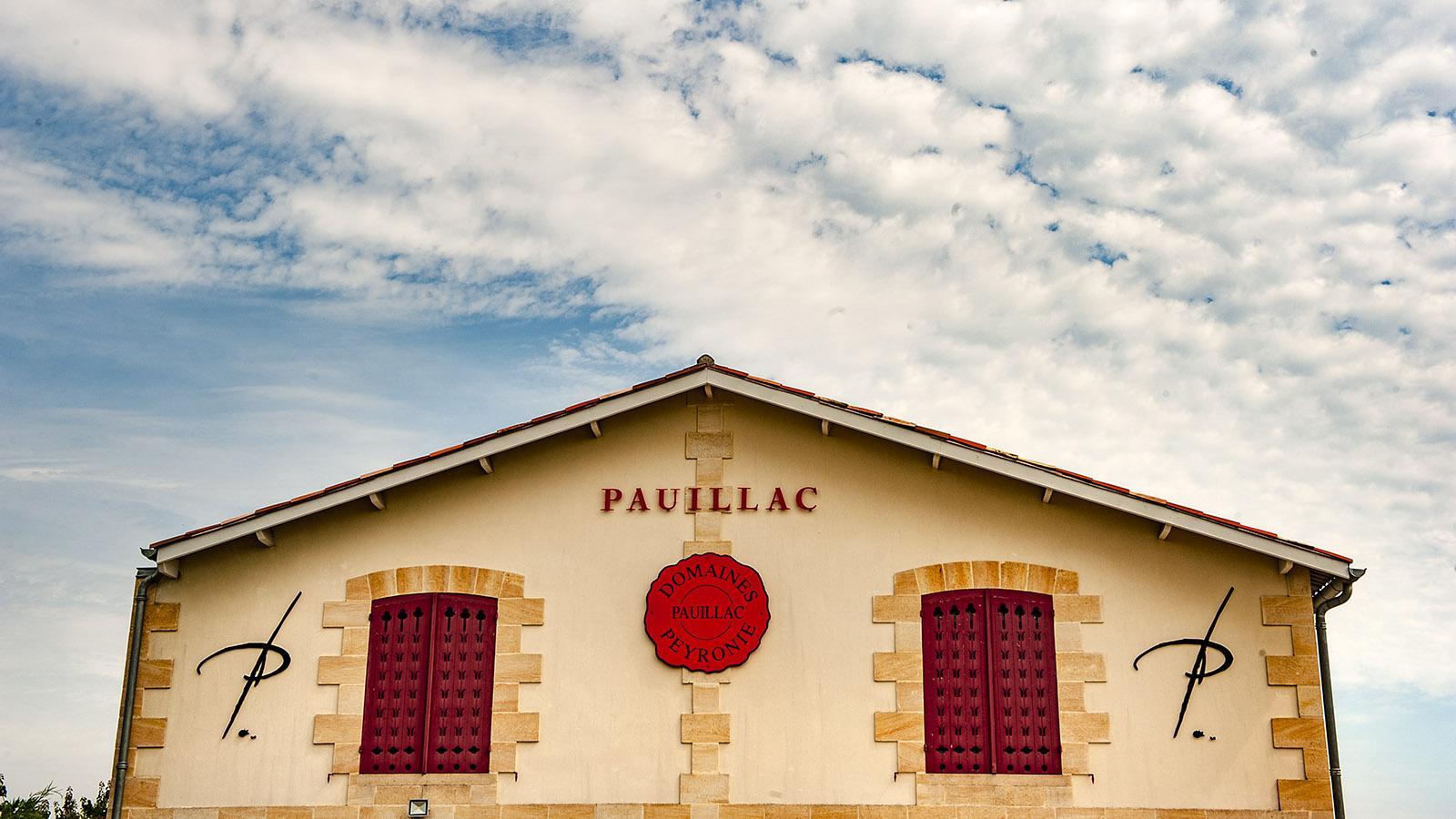 Médoc: Weinkeller in Pauillac. Foto: Hilke Maunder