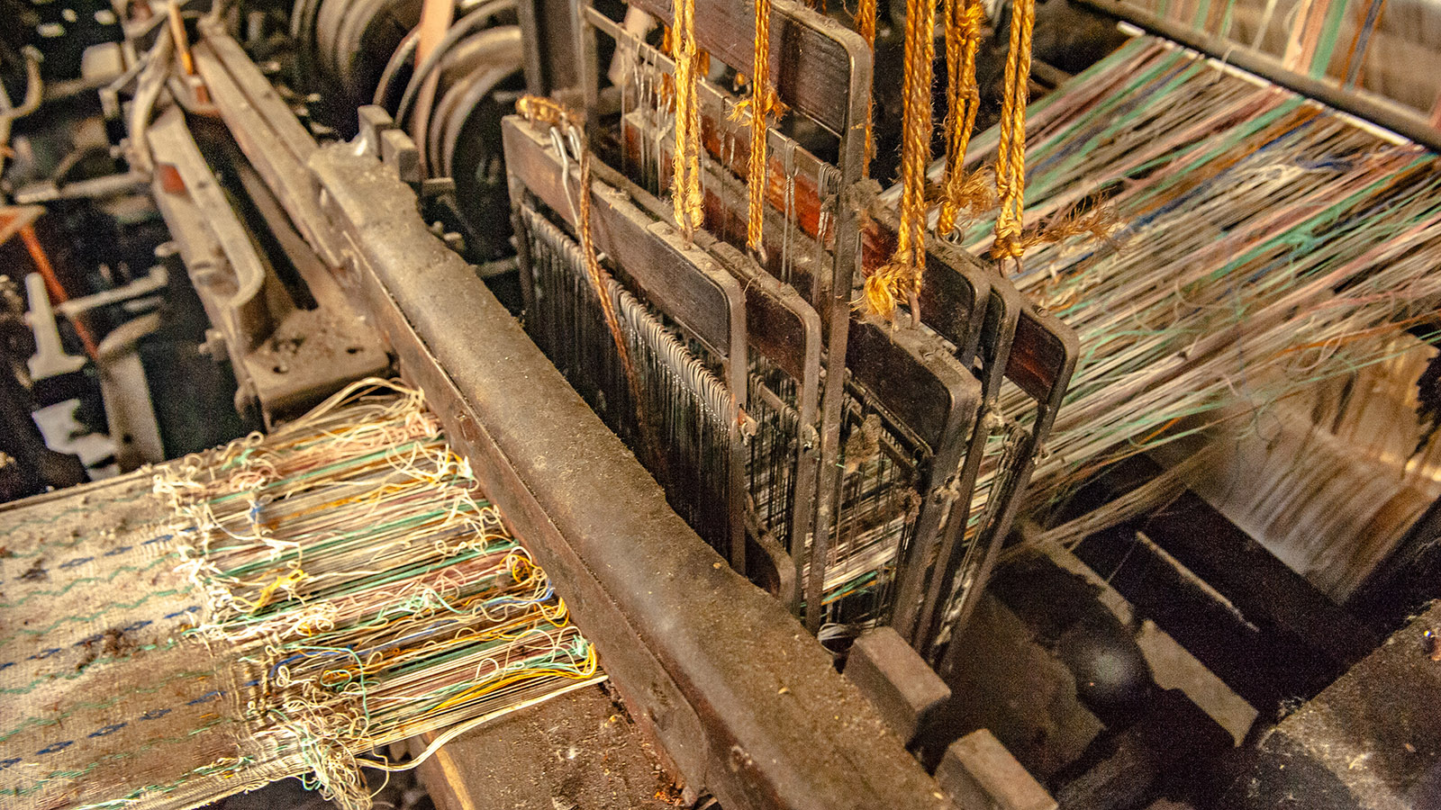Arles-sur-Tech, Le Moulin: Detail eines Webstuhles. Foto: Hilke Maunder
