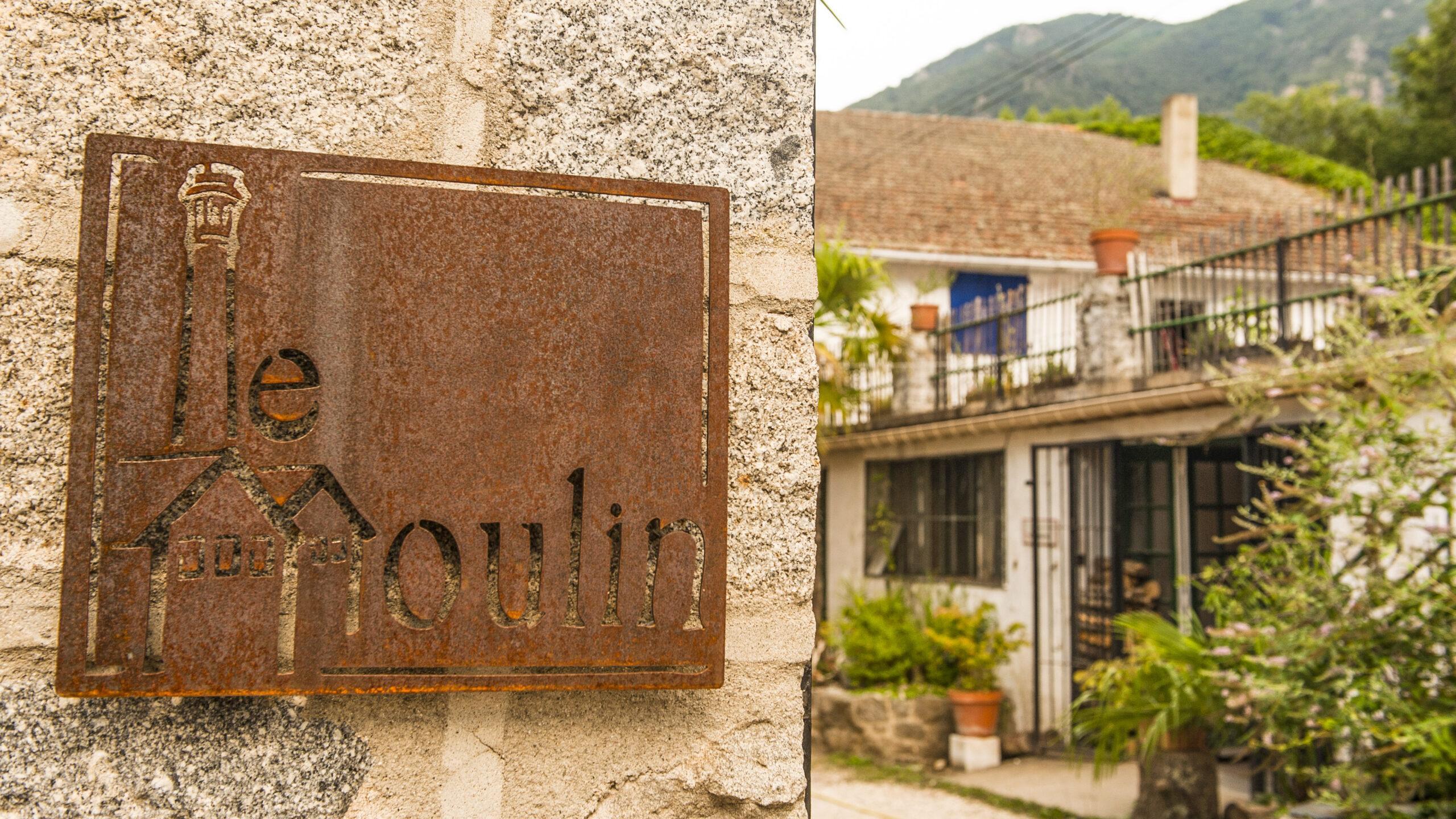 Arles-sur-Tech: Hier geht's hinein zu Kreativ-Mühle! Foto: Hilke Maunder