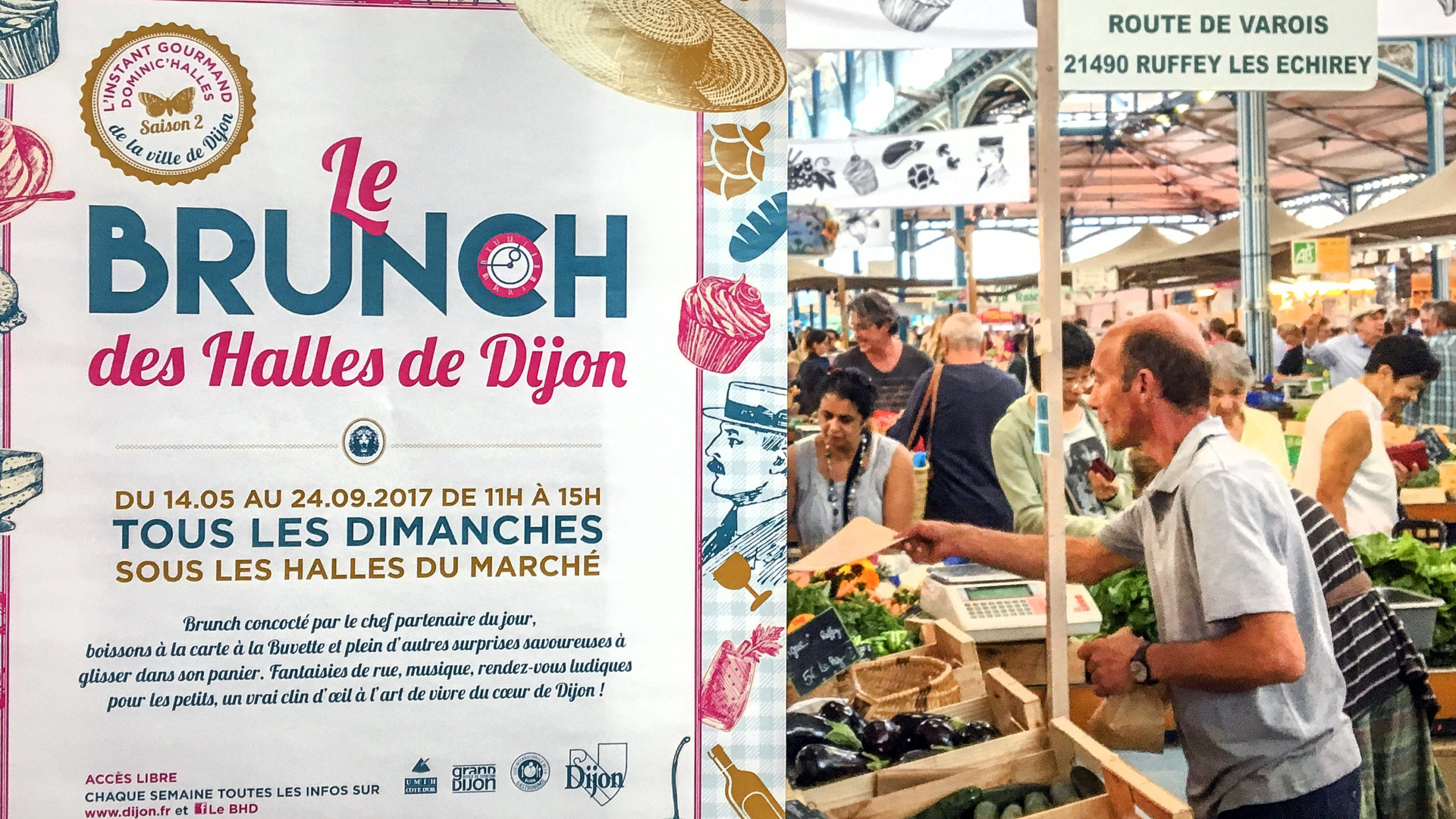 Dijon: Brunch-Zeit in der Markthalle. Foto: Hilke Maunder