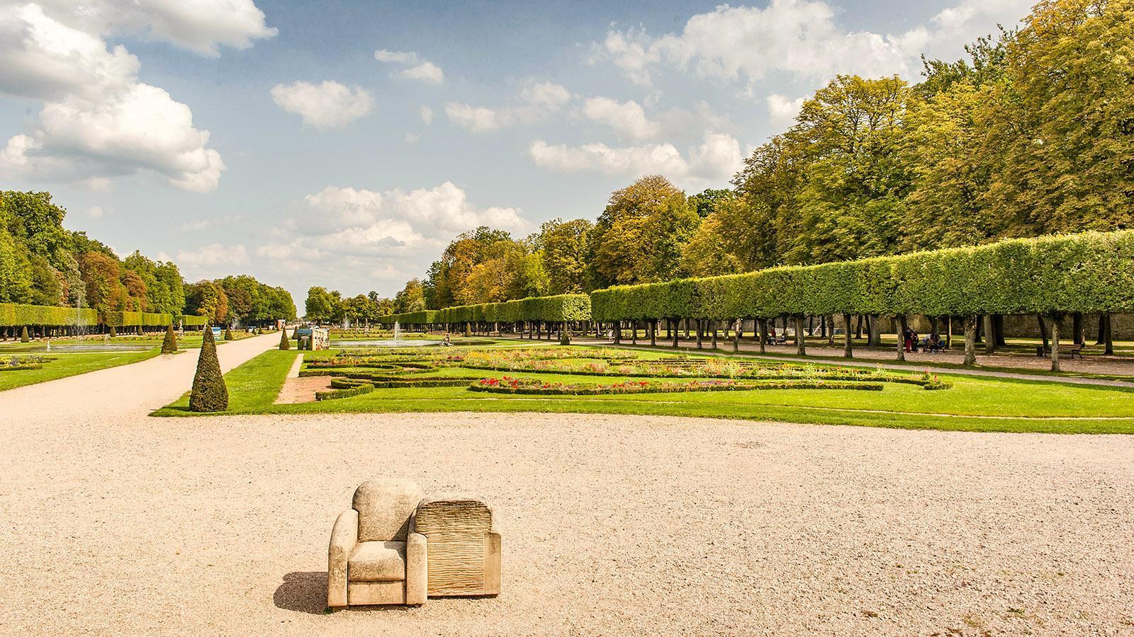 Im Schlosspark des Château des Lumières von Lunéville. Foto: Hilke Maunder