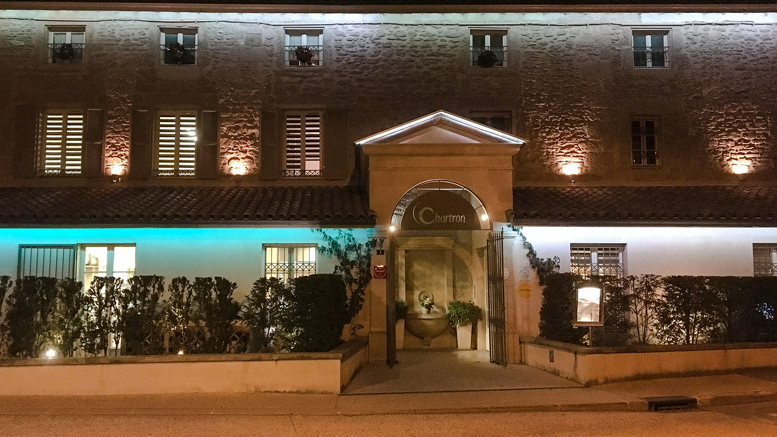 Das Hotel-Restaurant von Bruno Chartron. Foto: Hilke Maunder