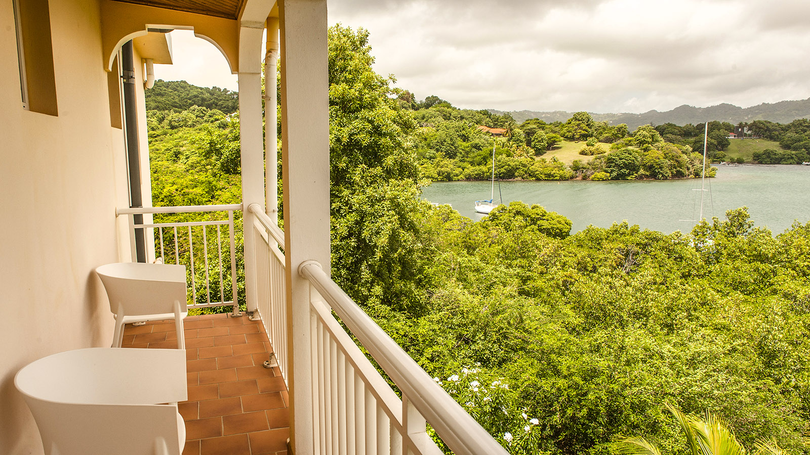 Der Blick von der Kochvilla aufs karibische Meer. Foto: Hilke Maunder