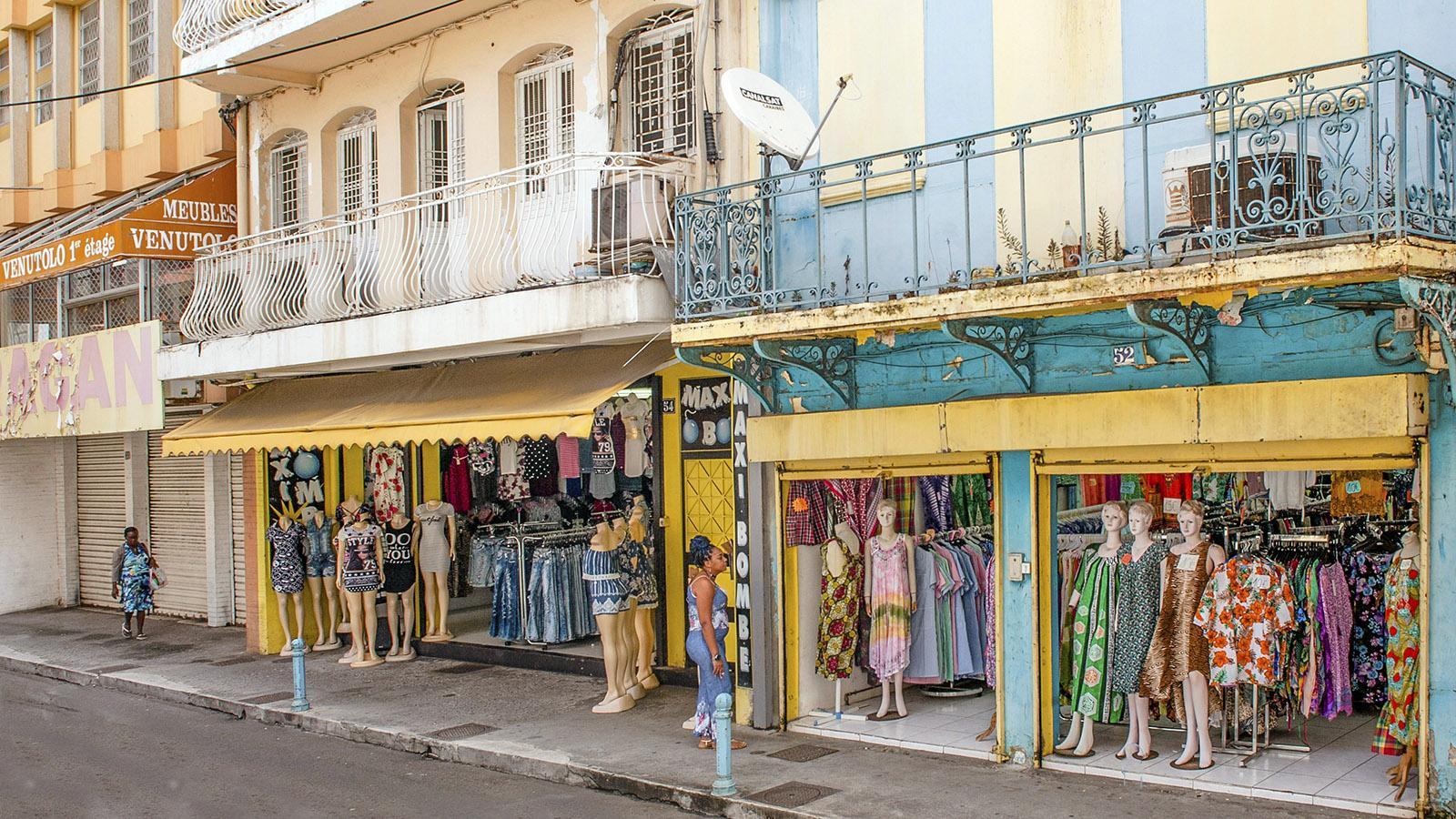 Rue Schœlcher, eine der Haupteinkaufsstraßen von Fort-de-France. Foto: Hilke Maunder