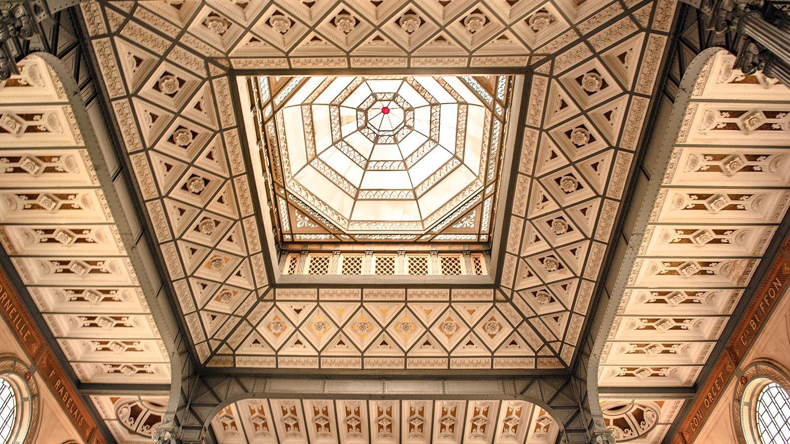 Fort-de-France: Die Decke des Lesesaals der BibliothèqueSchœlcher. Foto: Hilke Maunder