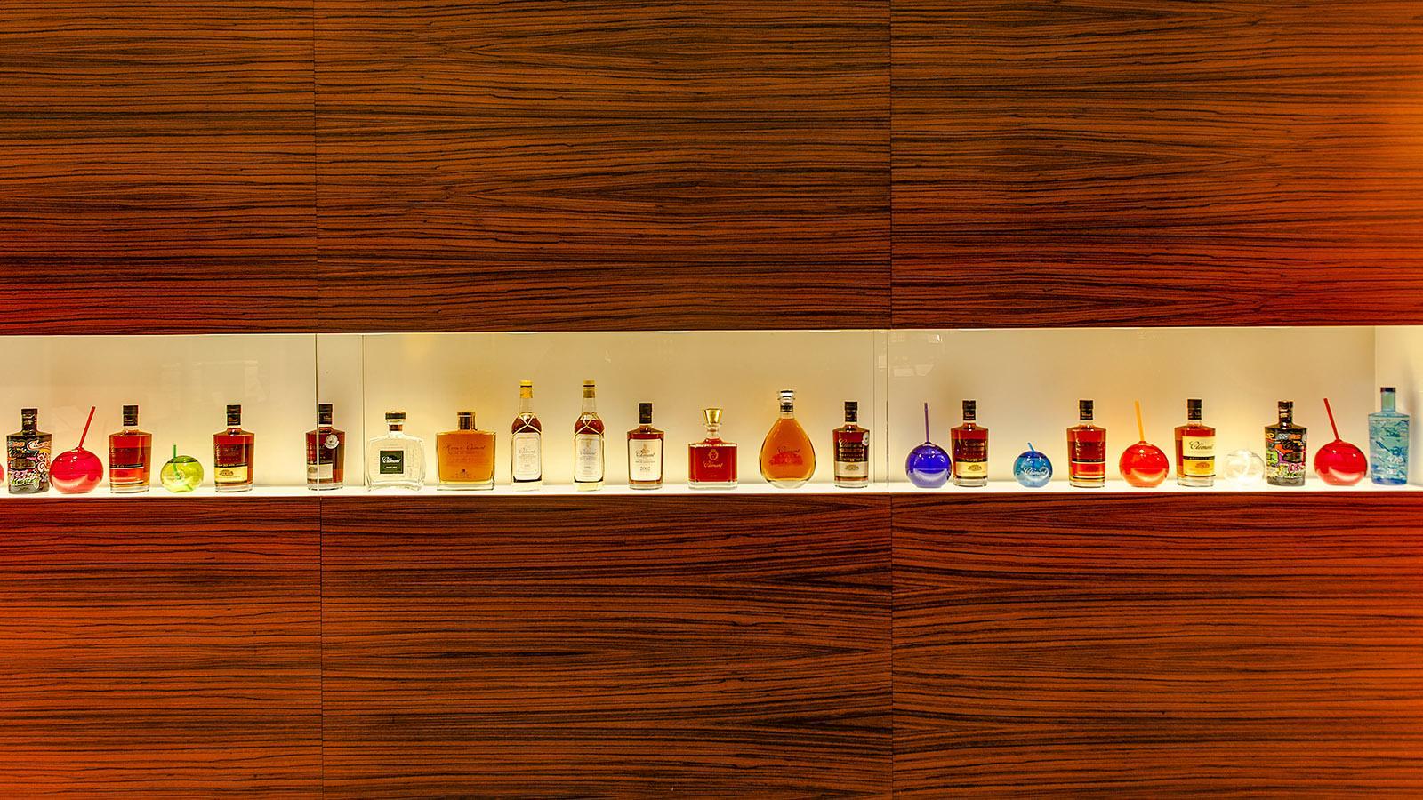 Edel inszeniert: das Rum-Sortiment der Habitation Clément. Foto: Hike Maunder