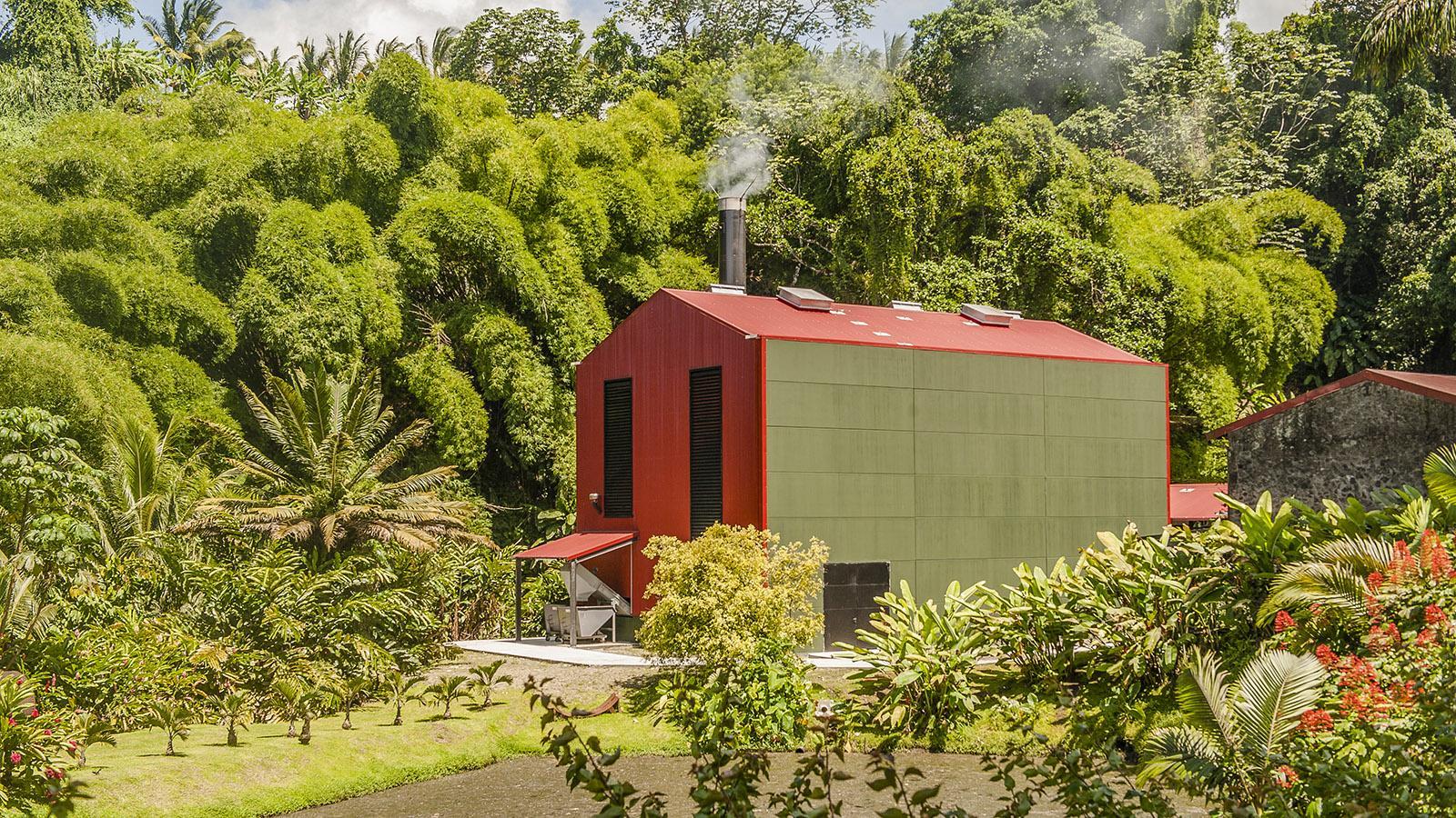 Rum auf Martinique: die Rumfabrik von Rhum J.M. Foto. Hilke Maunder