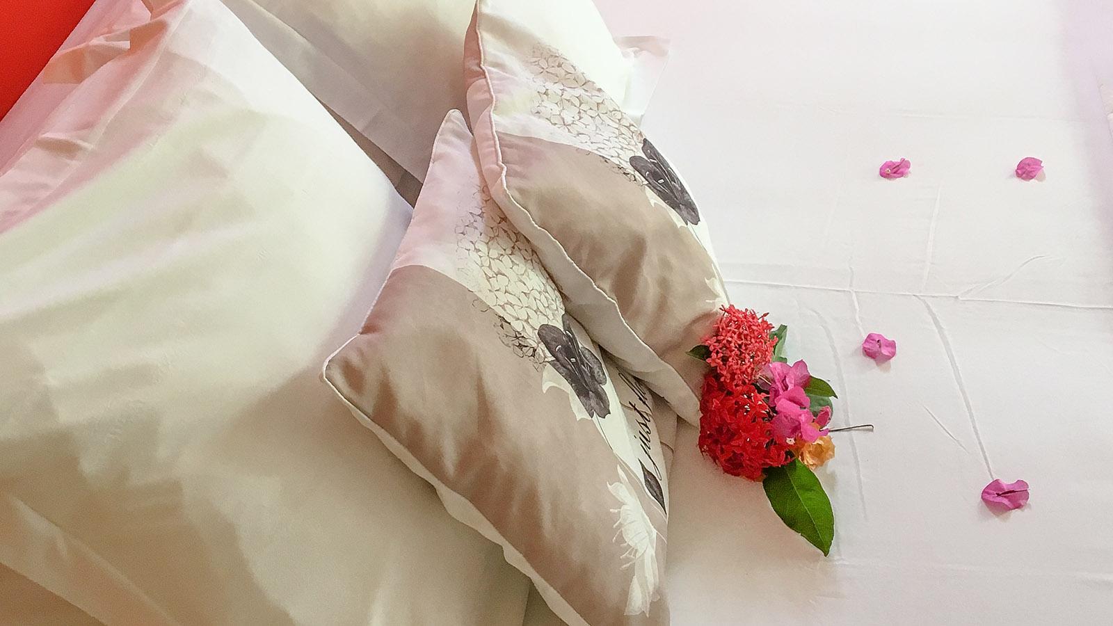 Detail eines Gästezimmers bei Tante Arlette. Foto: Hilke Maunder