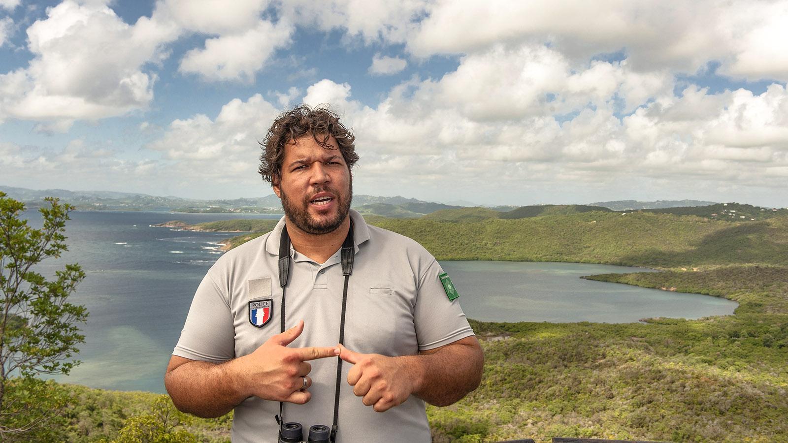 Thomas Alexandrine arbeitet als Ranger im Naturschutzgebiet Caravalle. Foto: Hilke Maunder