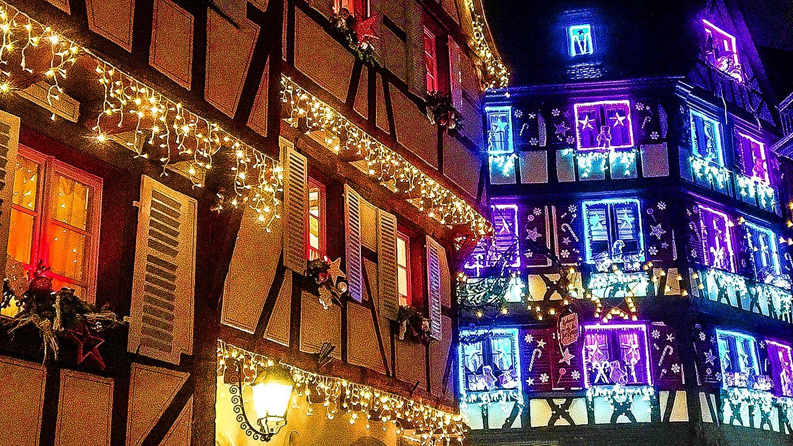 Weihnachten in Colmar - alles ist festlich illuminiert. Foto: Hilke Maunder