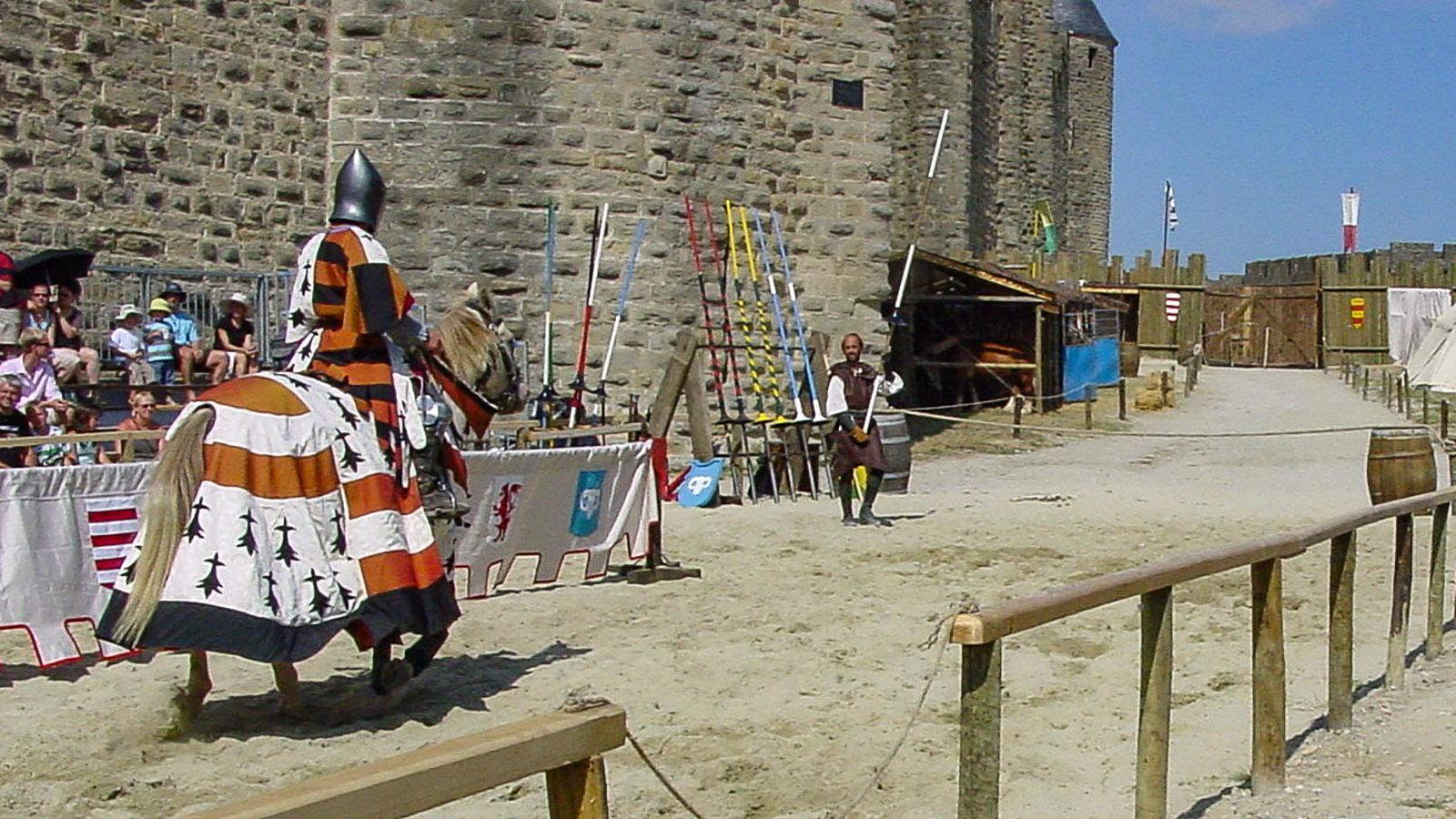 Die Ritterspiele von Carcassonne. Foto: Hilke Maunder