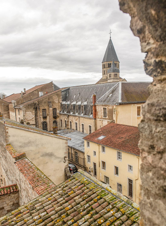 Cluny: Der Blick auf die Abtei von der Tour des Fromages. Foto: Hilke Maunder