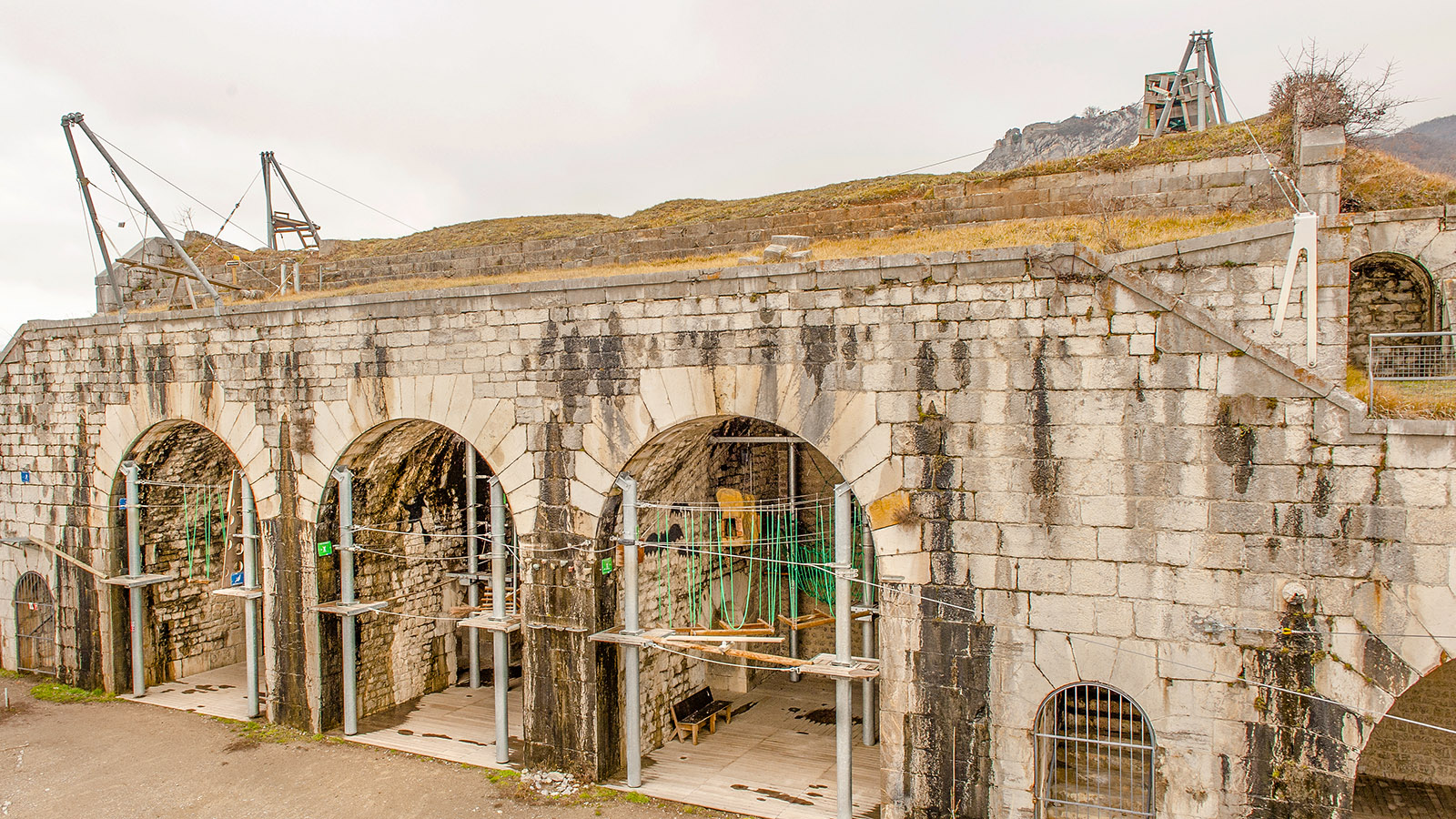 Accrobastille - Frankreichs einziger Kletterpark in einer Festung. Foto: Hilke Maunder