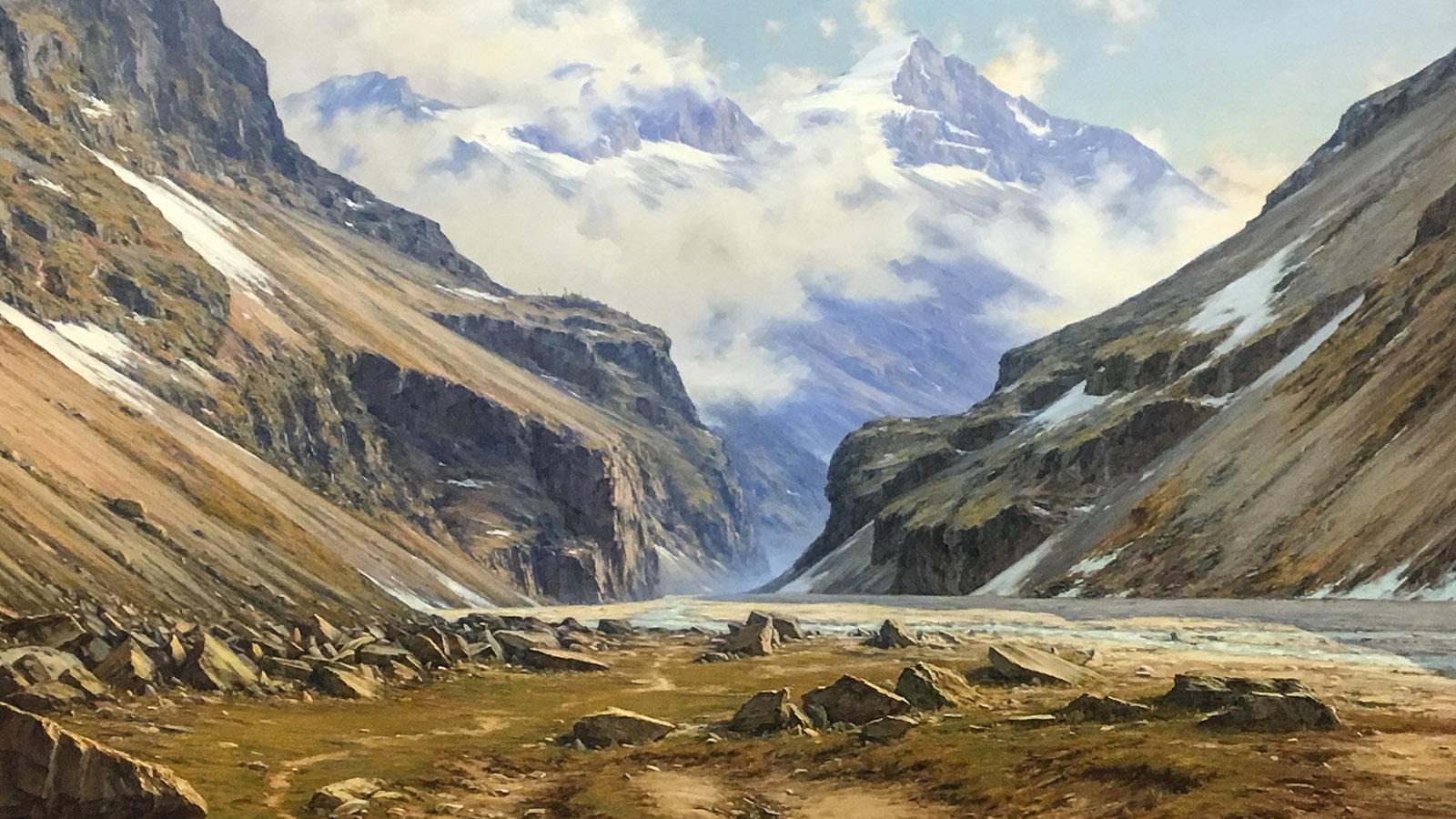 Das Tal von Vénéon bei Saint-Christophe-en-Ossans, gemalt von Charles Bertier. Foto: Hilke Maunder