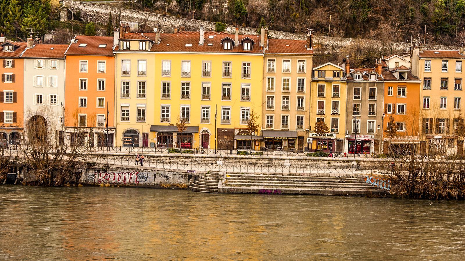 Die Kais der Isère unterhalb der Bastille. Foto: Hilke Maunder