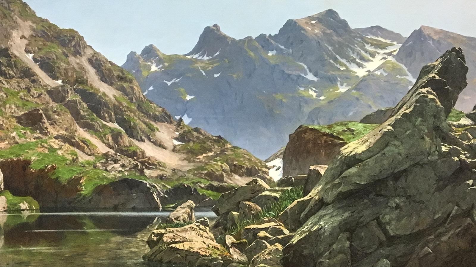 Der Merlat-See, gemalt von Édouard Brun. Foto (Ausschnitt): Hi