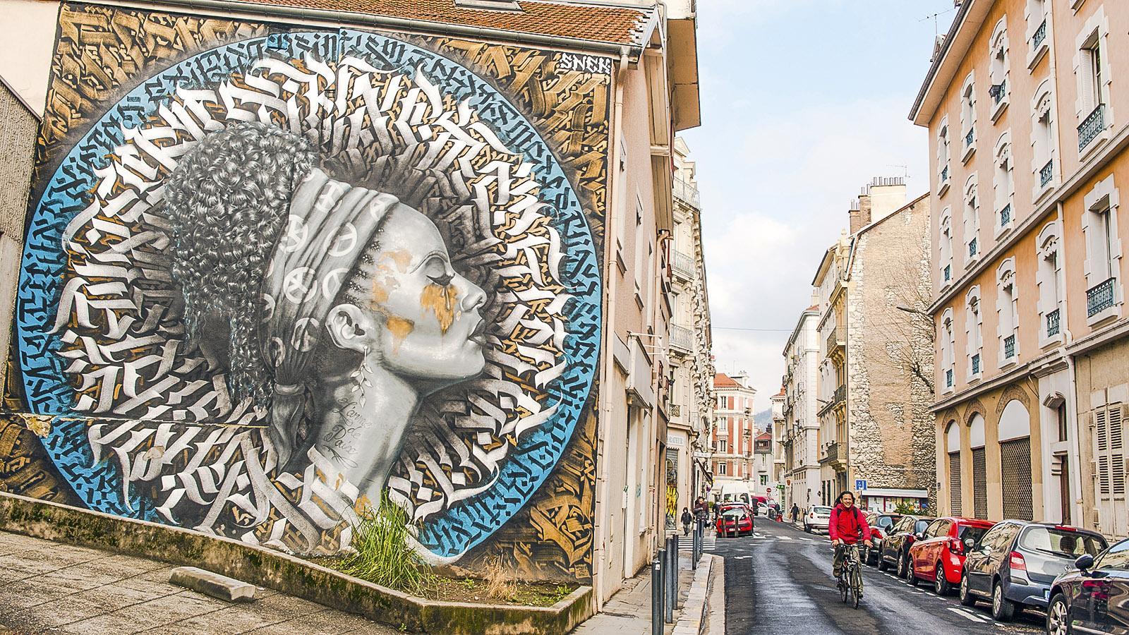 L'arme de paix von Snek, Beitrag zum Street-Art-Festival 2019