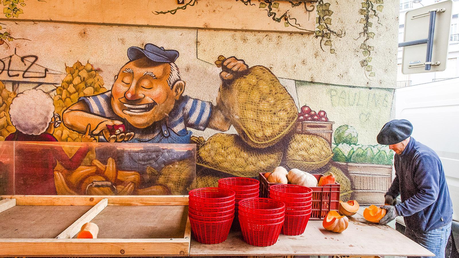 Markt in Grenoble. Foto: Hilke Maunder