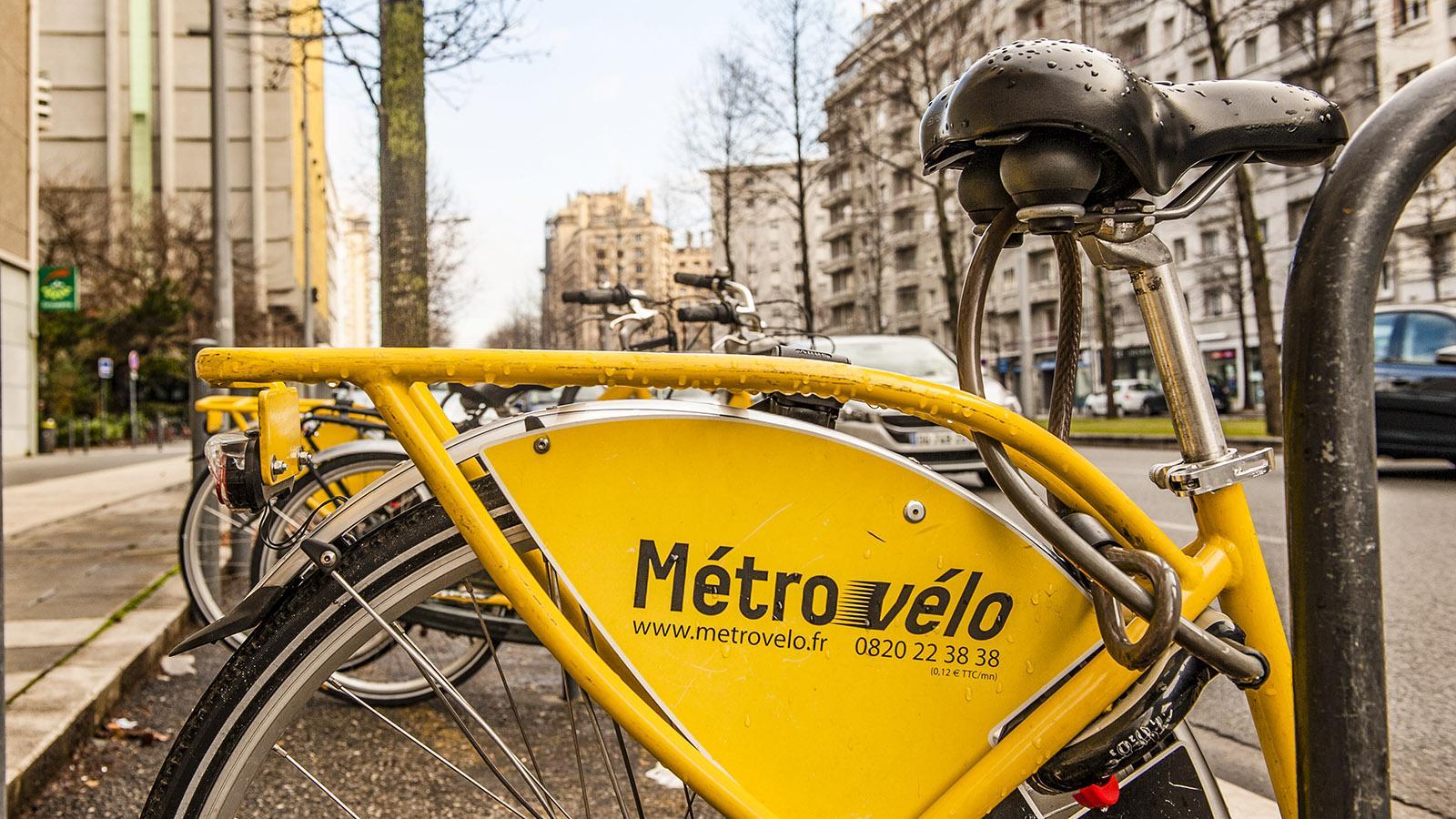MétroVelo, das Stadtrad-System von Grenoble. Foto: Hilke Maunder
