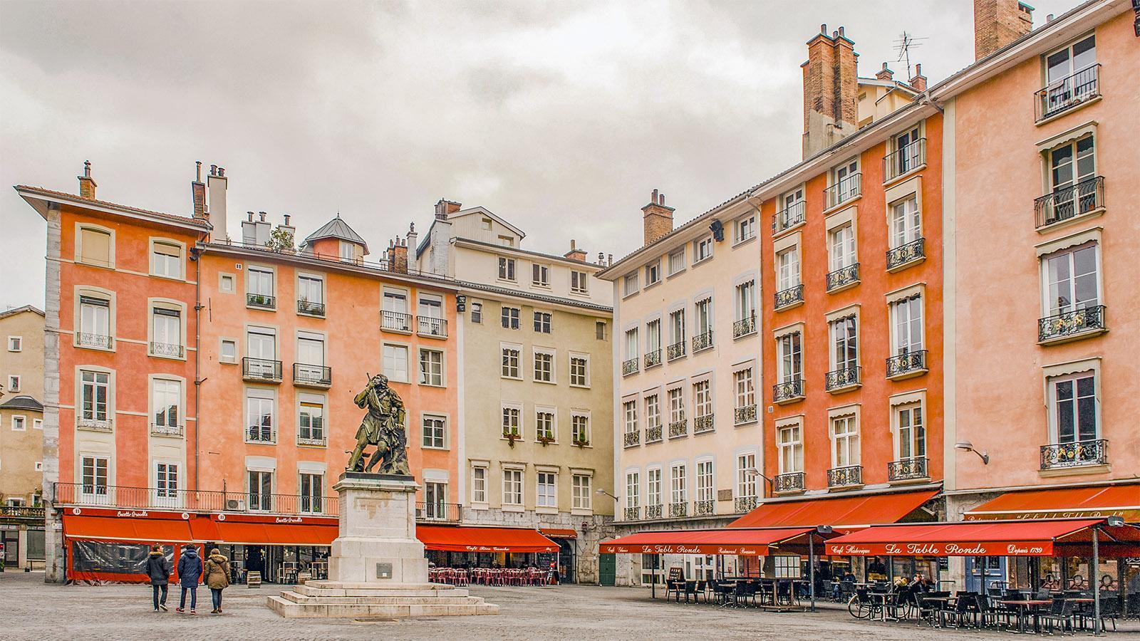Grenoble: Plac trib' . Foto: Hilke Maunder