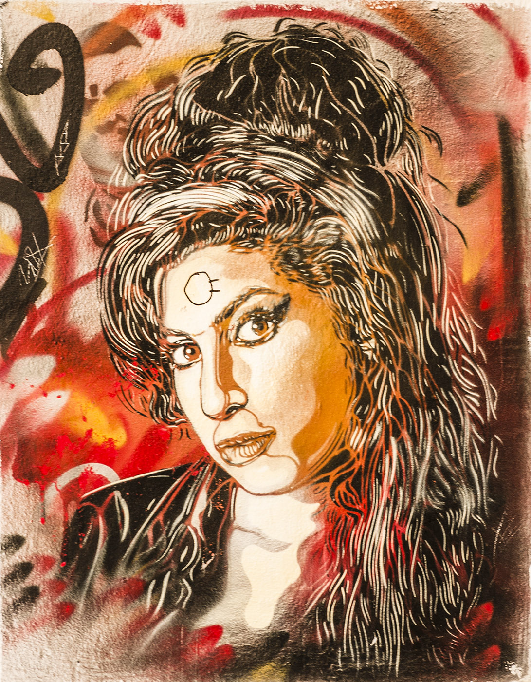 Street Art in Grenoble. Amy Winehouse