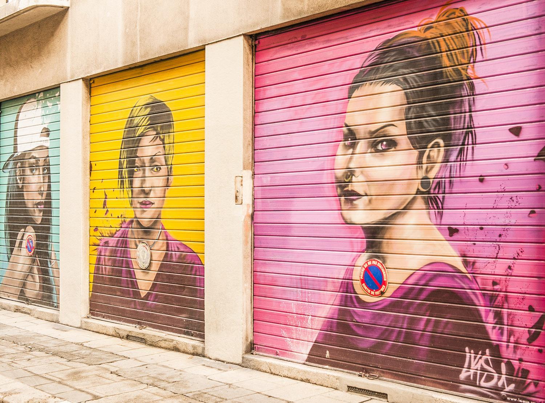 LKS1 ais Frankreich schuf 2015 diesen Beitrag zum Street Art Fest. Foto: Hilke Maunder