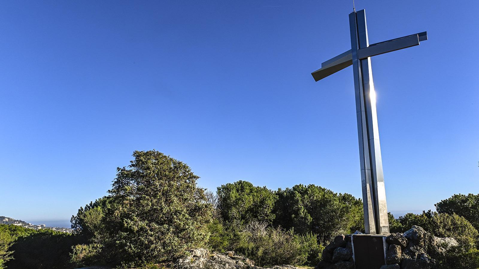 Das Croix des Gardes hoch über Cannes. Foto: Hilke Maunder