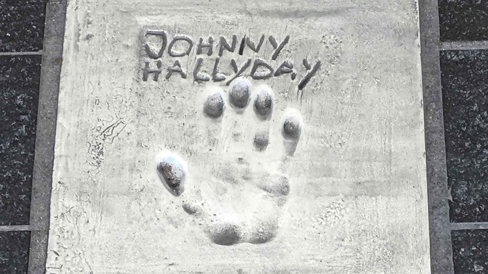 Cannes, Walk of Fame: Johnny Hallyday. Foto: Hilke Maunder