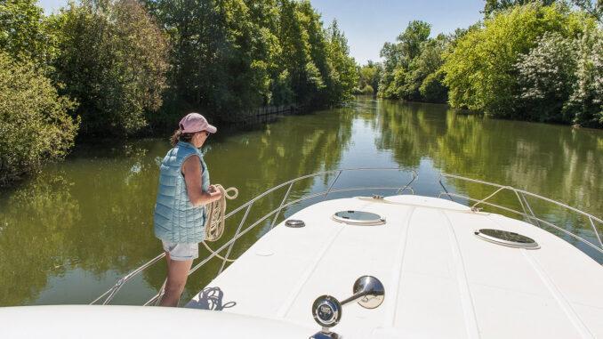 Hausboot auf der Charente. Foto: Hilke Maunder