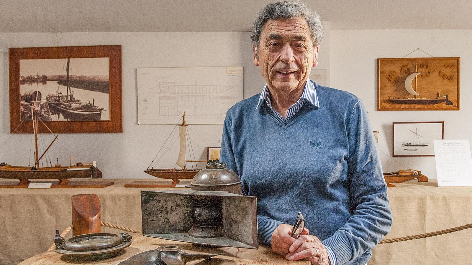 Saint-Simon: Bürgermeister JeanJacques Delâge im Heimatmuseum. Foto: Hilke Maunder
