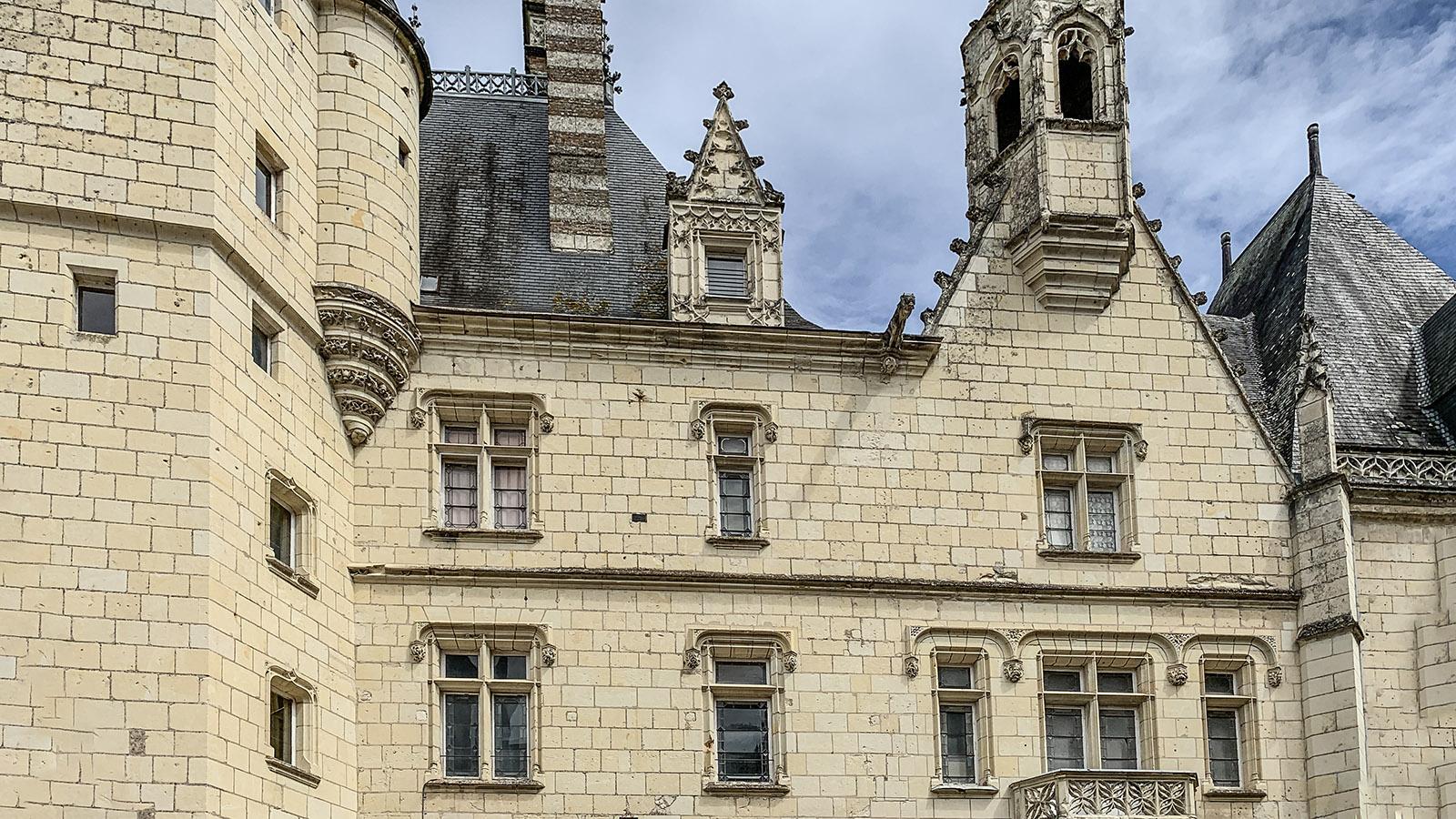 Die Hofseite von Château d'Ussé. Foto: Hilke Maunder
