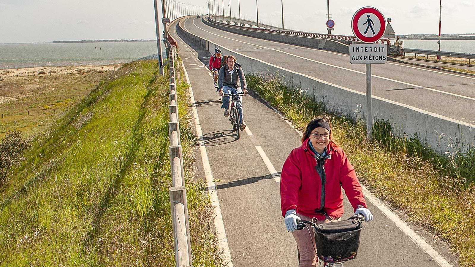 Auch mit dem Rad könnt ihr prima zur Île de Ré rüberkommen! Foto: Hilke Maunder