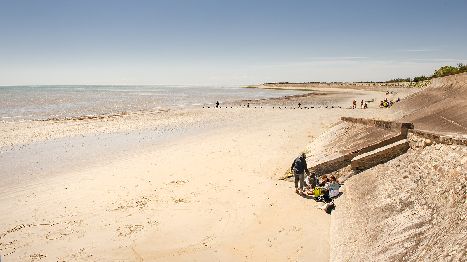 Île de Ré: Strand bei Pas du Matray. Foto: Hilke Maunder