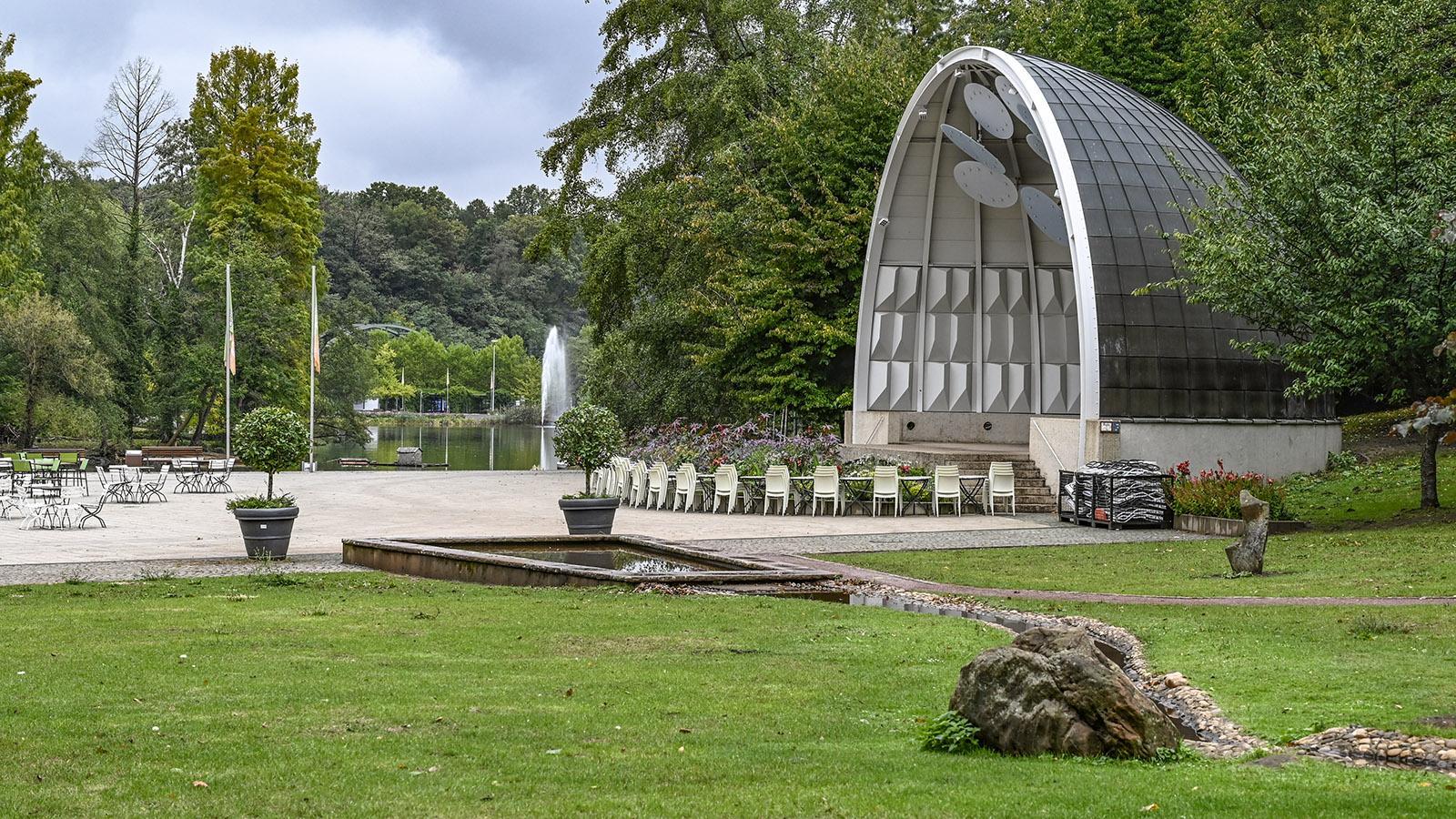 Saarbrücken: die Musikmuschel des Deutsch-Französischen Gartens. Foto: Hilke Maunder