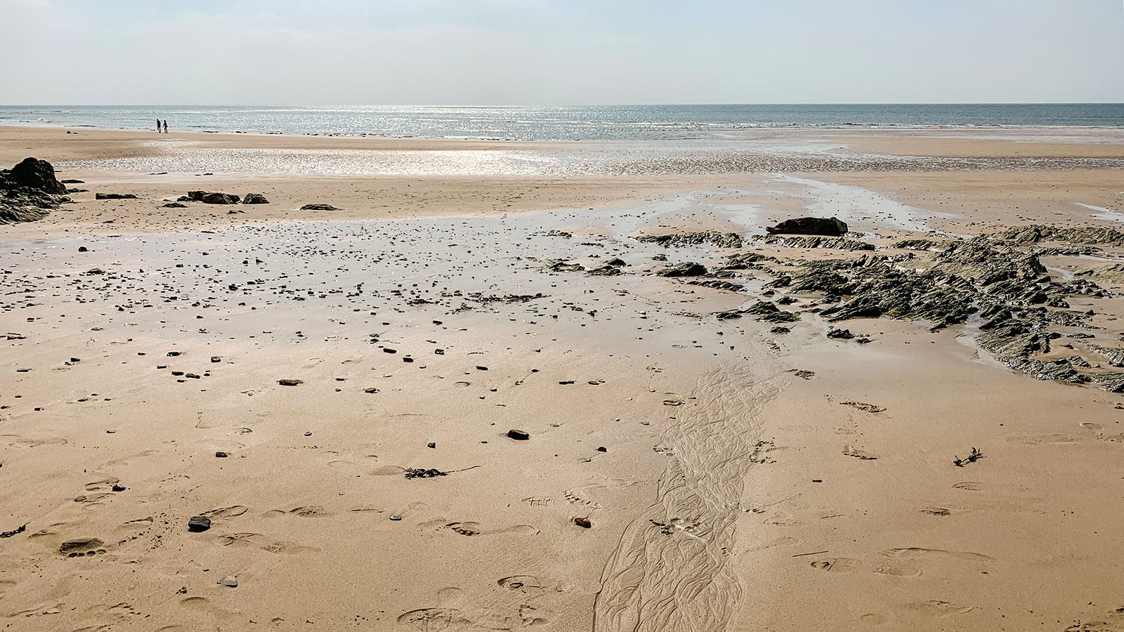 Cotentin: Der Strand von Barneville-Carteret. Foto: Hilke Maunder